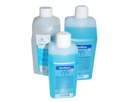 Desinfektionsmittel zur Haut- und Händedesinfektion, Flächendesinfektion, Instrumentendesinfektion, Hautprflege- und Hautreinigung